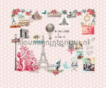 Paris je taime pink papier peint Room Seven Travel Memories 2200112