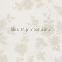 Bloemen op moire behang Eijffinger barok