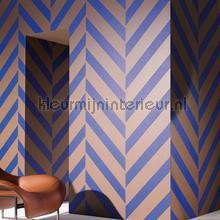 Versprongen diagonale zigzag tapet Arte interiors