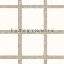 Grid met mica look relief papel pintado Arte Ulf Moritz Mineral 17104