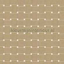 Rechthoekig vlechtwerk tapet Arte Ulf Moritz Mineral 17129