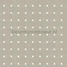 Grafisch rechthoekig vlechtwerk wallcovering Arte Ulf Moritz Mineral 17131