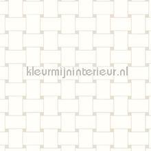 Grafisch rechthoekig vlechtwerk wallcovering Arte Ulf Moritz Mineral 17133