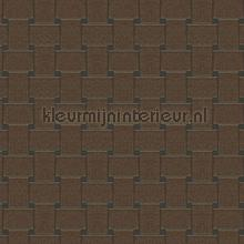 Grafisch rechthoekig vlechtwerk wallcovering Arte Ulf Moritz Mineral 17135
