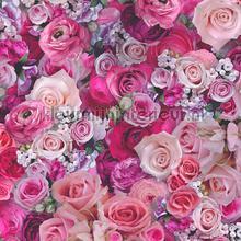 Bloemenboeket fuchsia tapeten AS Creation Urban Flowers 327221