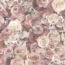 Bloemenboeket oudroze tapeten AS Creation Urban Flowers 327222