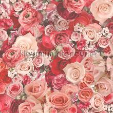 Bloemenboeket rood tapeten AS Creation Urban Flowers 327223