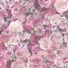Bloemenboeket zacht roze tapeten AS Creation Urban Flowers 327224