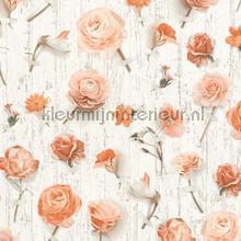 Bloemen en planken tapeten AS Creation Urban Flowers 327232