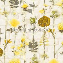 Bloemen en bakstenen tapeten AS Creation Urban Flowers 327252