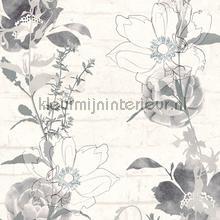 Bloemenslinger op bakstenen tapeten AS Creation Urban Flowers 328003