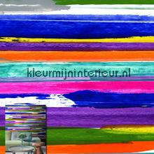 Painted coloured lines fotobehang Origin Grafisch Abstract