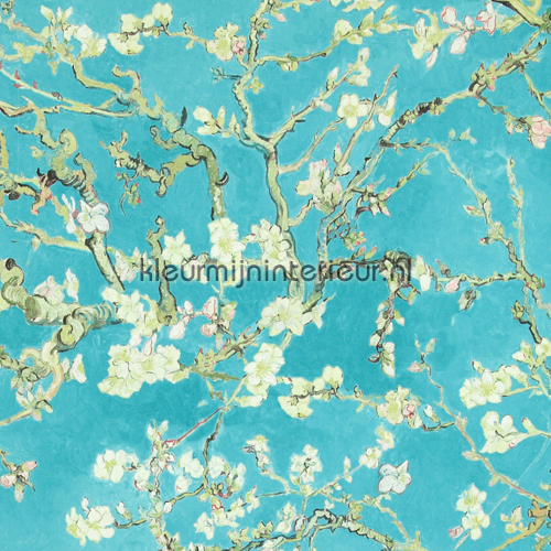Almond Blossom turquoise behang 17140 behang Top 15 BN Wallcoverings