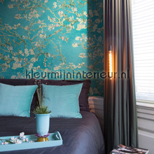 Almond Blossom turquoise wallcovering BN Wallcoverings wallpaper Top 15