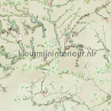 Almond Blossom light green behang 17141 romantisch BN Wallcoverings