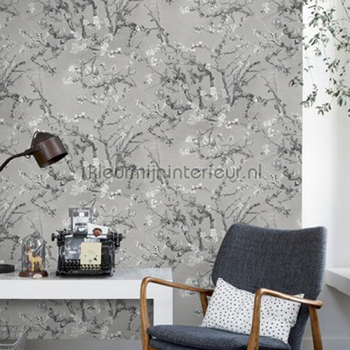 Almond Blossom grey behang 17144 romantisch modern BN Wallcoverings