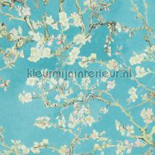 Almond Blossom light grey turquoise tapet BN Wallcoverings Vintage Gamle