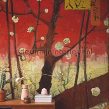 Bloeiende pruimenboomgaard (naar Hiroshige) fotobehang BN Wallcoverings Kunst Ambiance