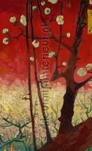 Bloeiende pruimenboomgaard (naar Hiroshige) papier murales BN Wallcoverings PiP studio wallpaper