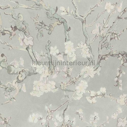 Almond Blossom light grey tapet 220060 romantisk moderne BN Wallcoverings