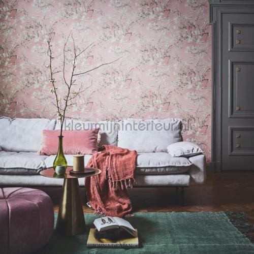 Almond Blossom light pink tapet 220061 romantisk moderne BN Wallcoverings