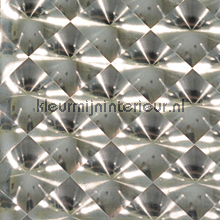 Holografische diagonaal licht brons tapet Eijffinger Venue 342091