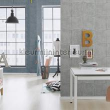 Luxe nonchalant patroon grote blokken behang Rasch Via Trento 806335