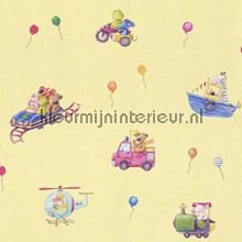 7 lieve dierenvriendjes vieren feest behang Rasch Baby Peuter