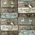 Koffers gestapeld tapeten Esta home Trendy