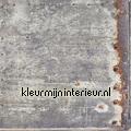 Metaalplaat verroest papier peint Esta home Vintage Rules 138218