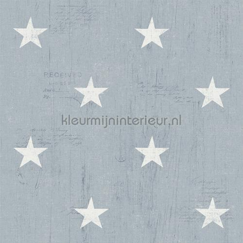 Witte vintage sterretjes behang 17322 Landelijk - Cottage Dutch Wallcoverings