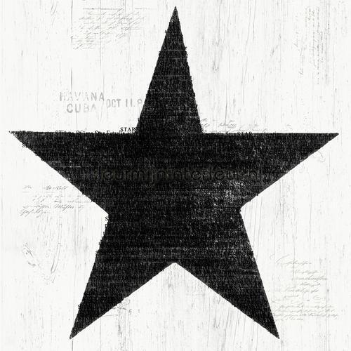 Grote zwarte vintage ster behang 17323 sterren Dutch Wallcoverings