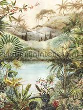 Hangeschilderd landschap papier murales Eijffinger Vivid 384602
