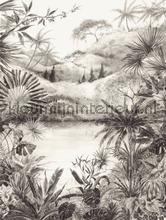Hangeschilderd landschap zwart wit fotobehang 384604 Interieurvoorbeelden fotobehang Eijffinger