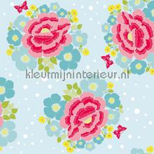 Big Rose blue tapet Room Seven Wallpaper Collection 2000100