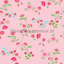 Bird Branches pink tapet Room Seven Wallpaper Collection 2000111