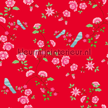 Bird Branches red papier peint Room Seven Wallpaper Collection 2000113