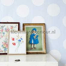 Dots blue behang Room Seven romantisch modern