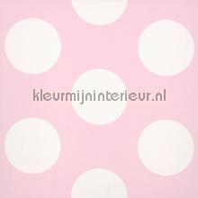 Dots pink reverse behang Room Seven romantisch modern