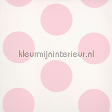Dots pink positive behang Room Seven romantisch modern