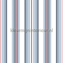 Stripe blue tapet Room Seven urban