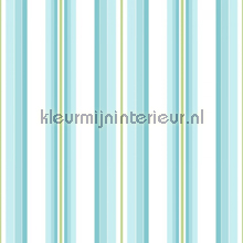 Stripe turquoise tapet Room Seven Wallpaper Collection 2000173