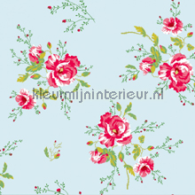 Winter Poppies blue papier peint Room Seven Wallpaper Collection 2000180