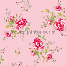 Winter Poppies pink papier peint Room Seven Wallpaper Collection 2000182
