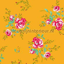 Winter Poppies yellow papier peint Room Seven Wallpaper Collection 2000184