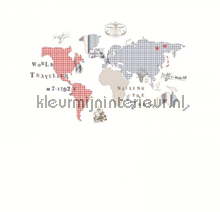 Mural World Map fotomurales Room Seven Wallpaper Collection 2000190