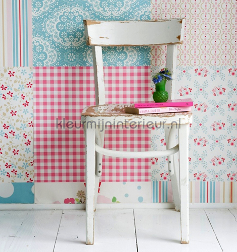 Mural Patchwork Girls photomural 2000193 Wallpaper Collection Room Seven