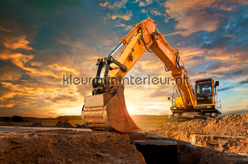 Yellow Digger photomural 470-348 XXL Wallpaper 2 AS Creation