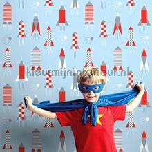 Tom pastel blue behang Lavmi jongens