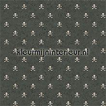 Skeletjes zwart wit papel de parede Eijffinger urbana